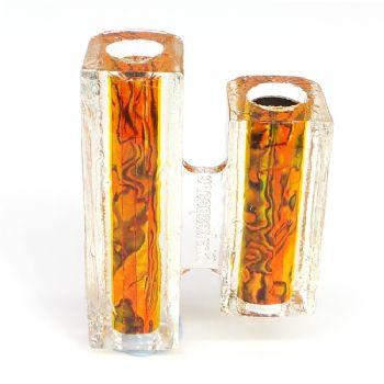 Sunset Orange Blankwerks paua abalone pen blank - Mistral/Leveche FP/RB